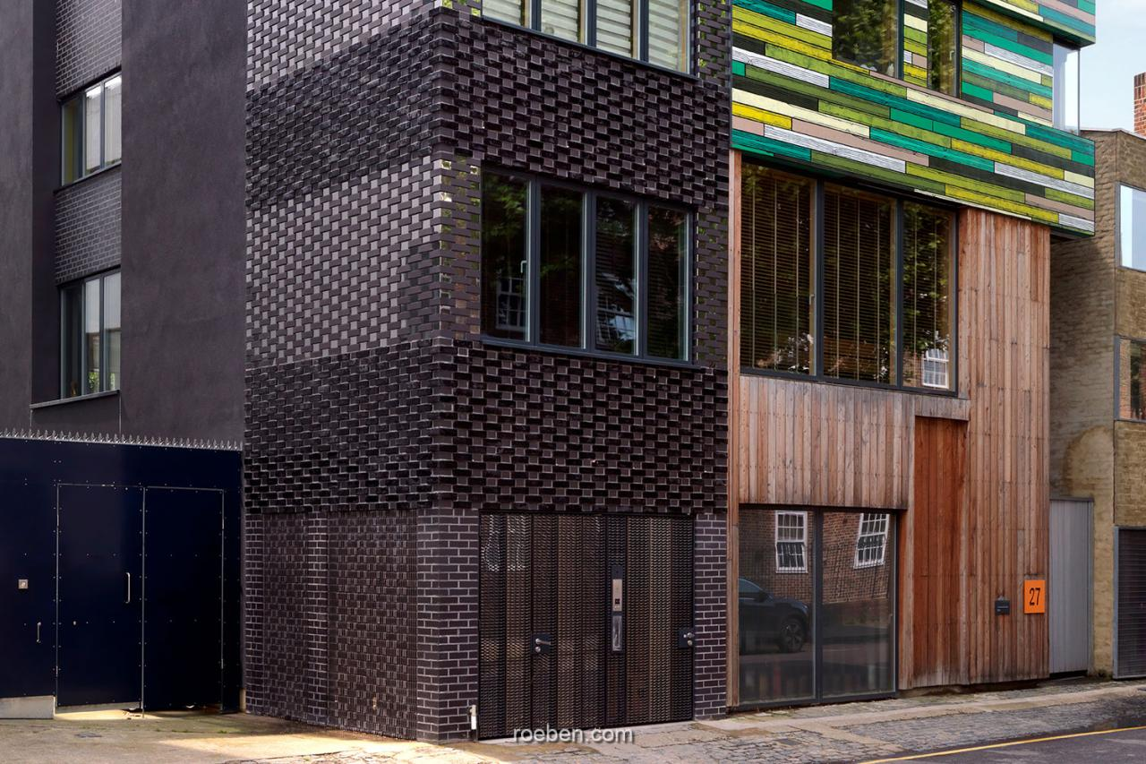 Urban Mesh Design, London: FARO schwarz nuanciert