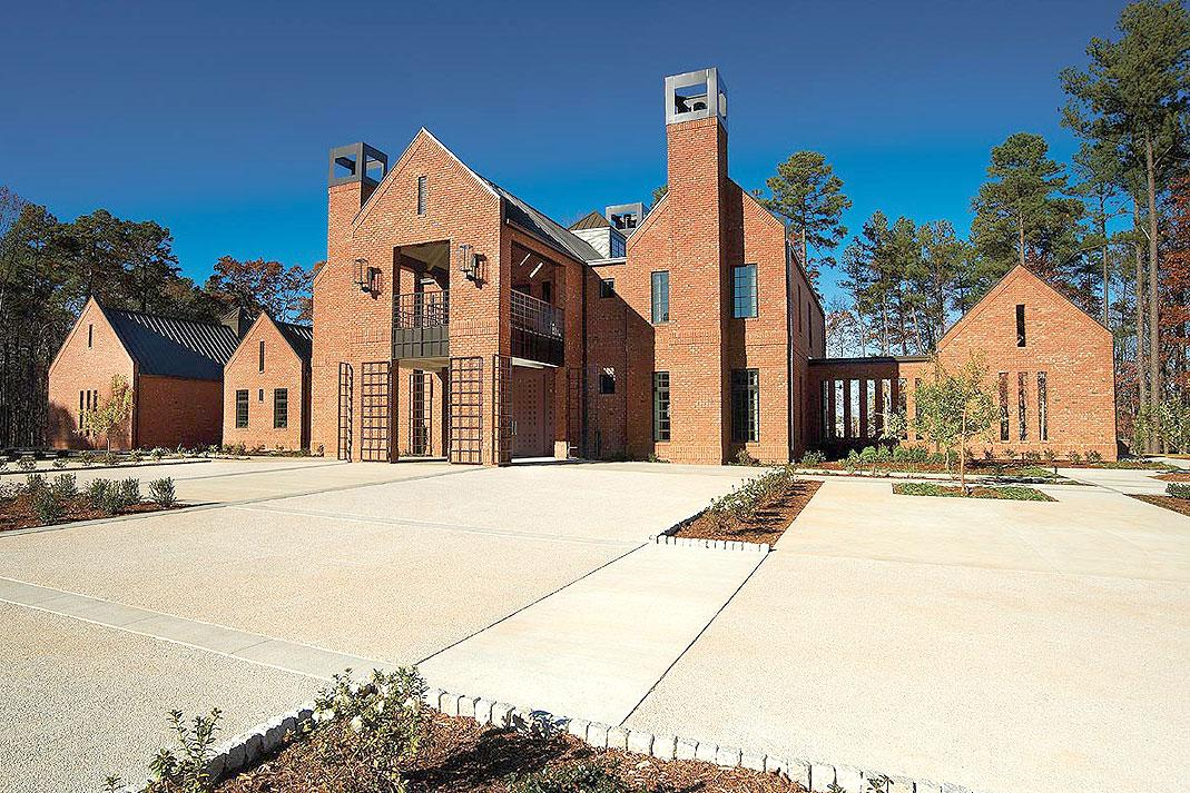 Wohnhaus Raleigh, NC State University, USA: Klinker Triangle Brick, Brick-Design®, Sondersortierung | Foto: Dustin Peck Photography